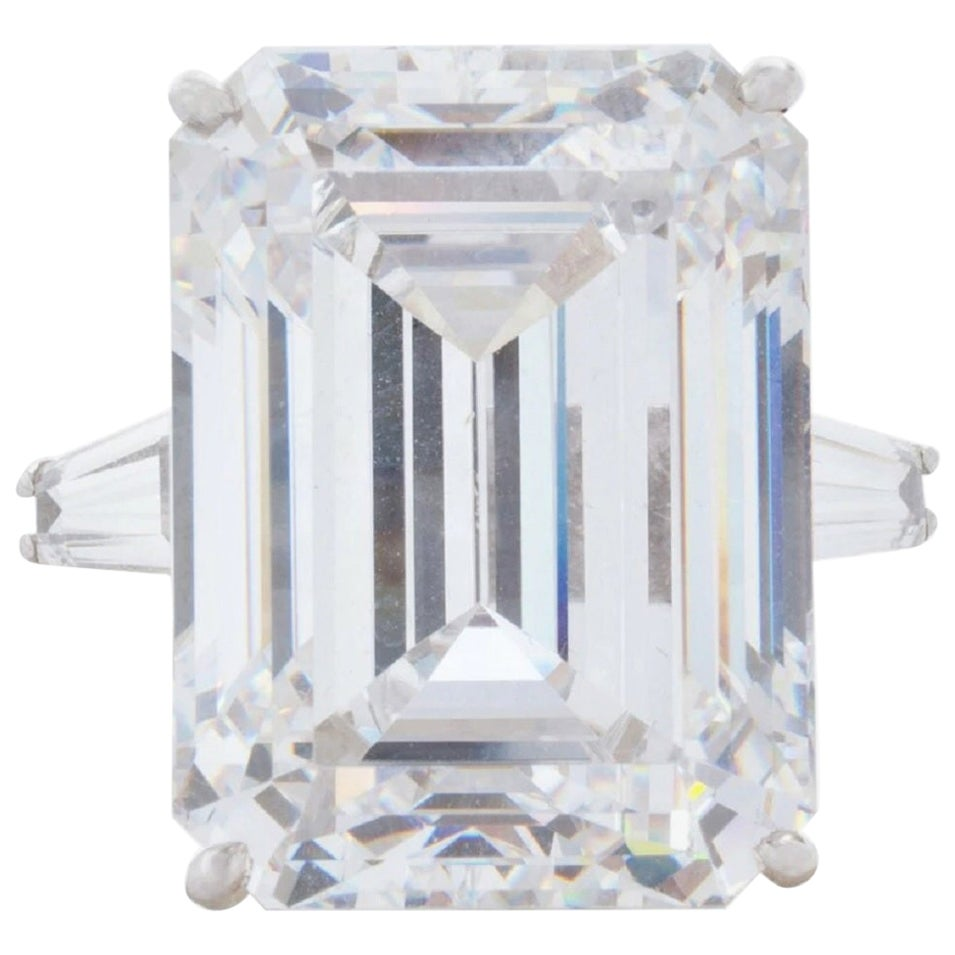 GIA Certified 4.50 Carat Emerald Cut Diamond Ring VVS1 G Color