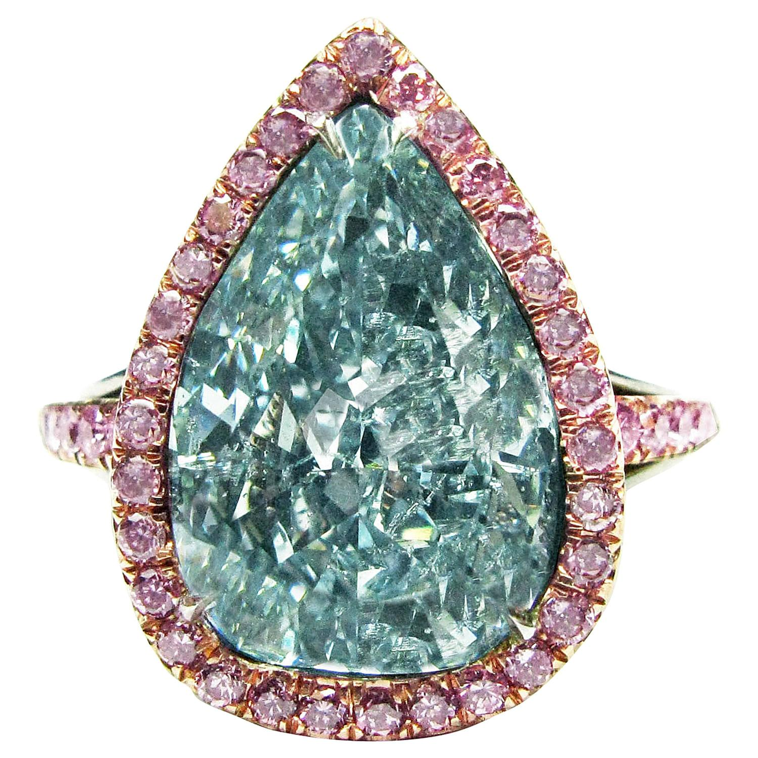 Antique Blue Diamond Jewelry & Watches 51 For Sale at 1stdibs