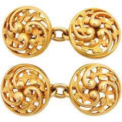 Antique Wièse Gold Cufflinks