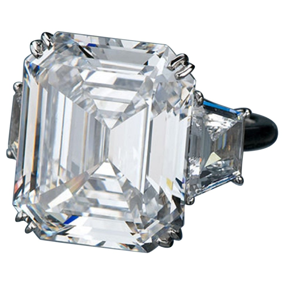 GIA Certified 4.51 Carat Emerald Cut Diamond Ring VS2 G Color