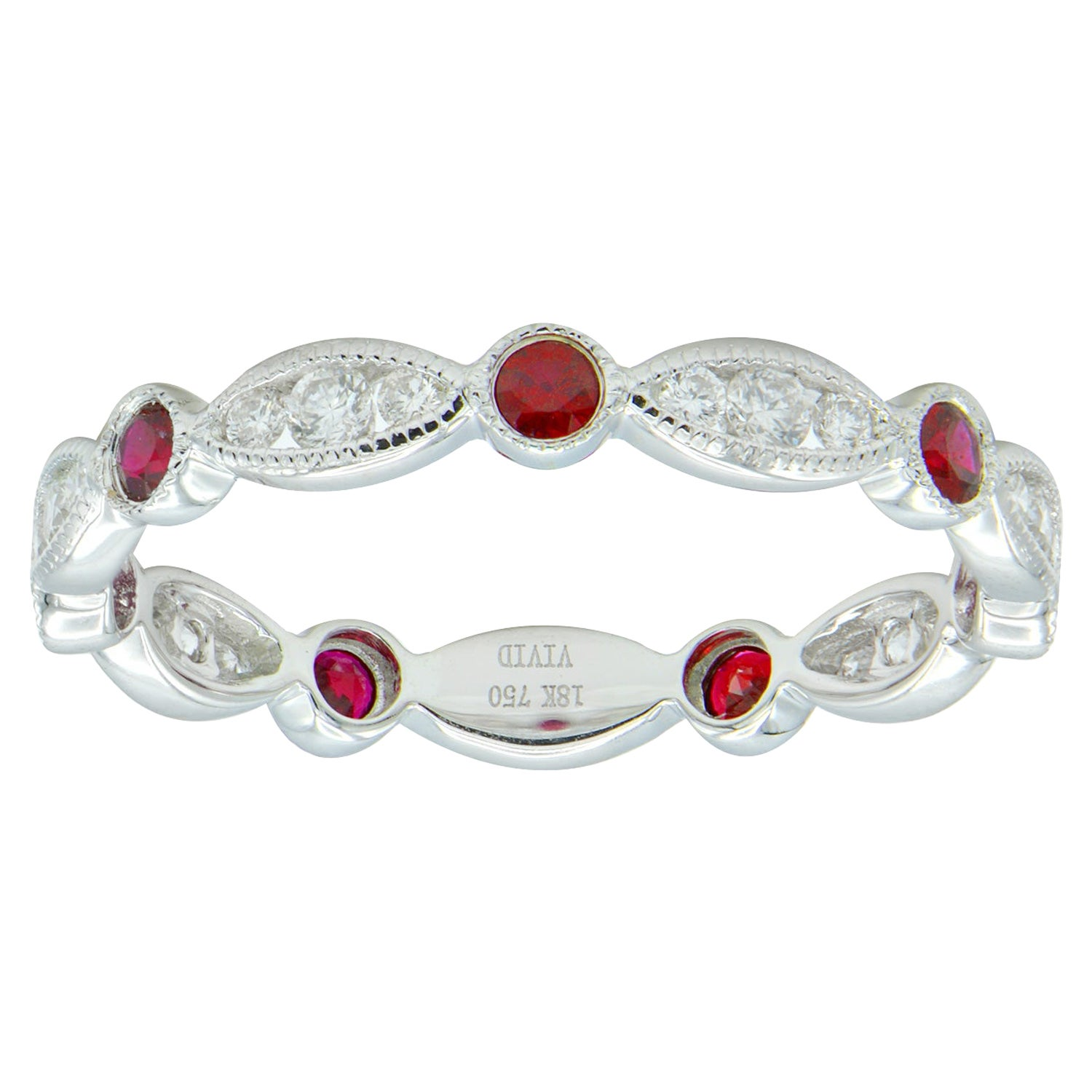 Diamond and Ruby Eternity Ring