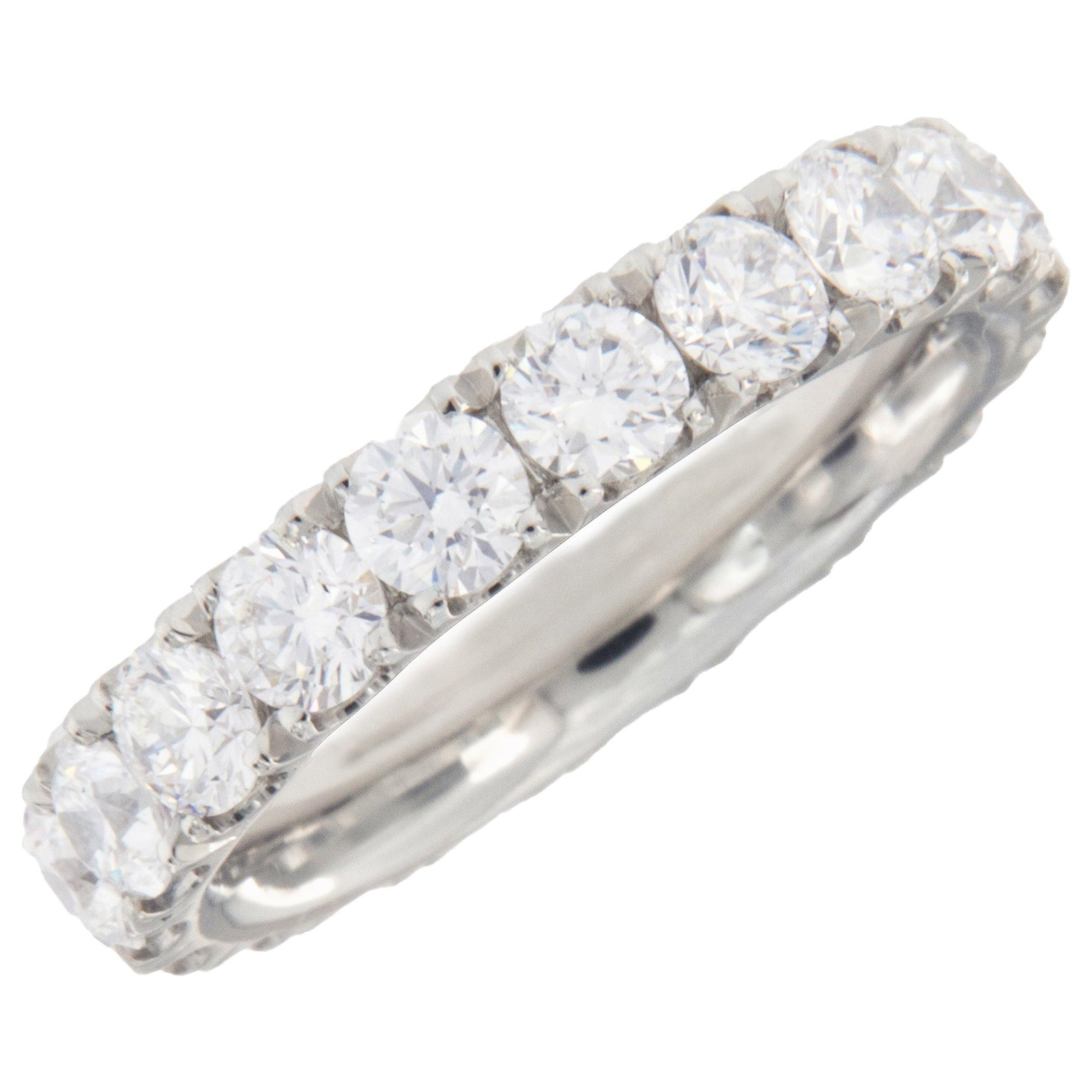 William Rosenberg D VVS Platinum Diamond Eternity Band 2.78 Carat