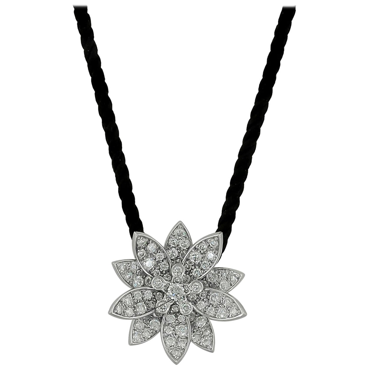 Van Cleef & Arpels Diamond Lotus Necklace
