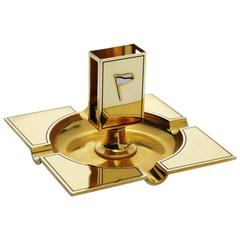 William K. Vanderbilt's Cartier Art Deco Enamel Gold Ashtray