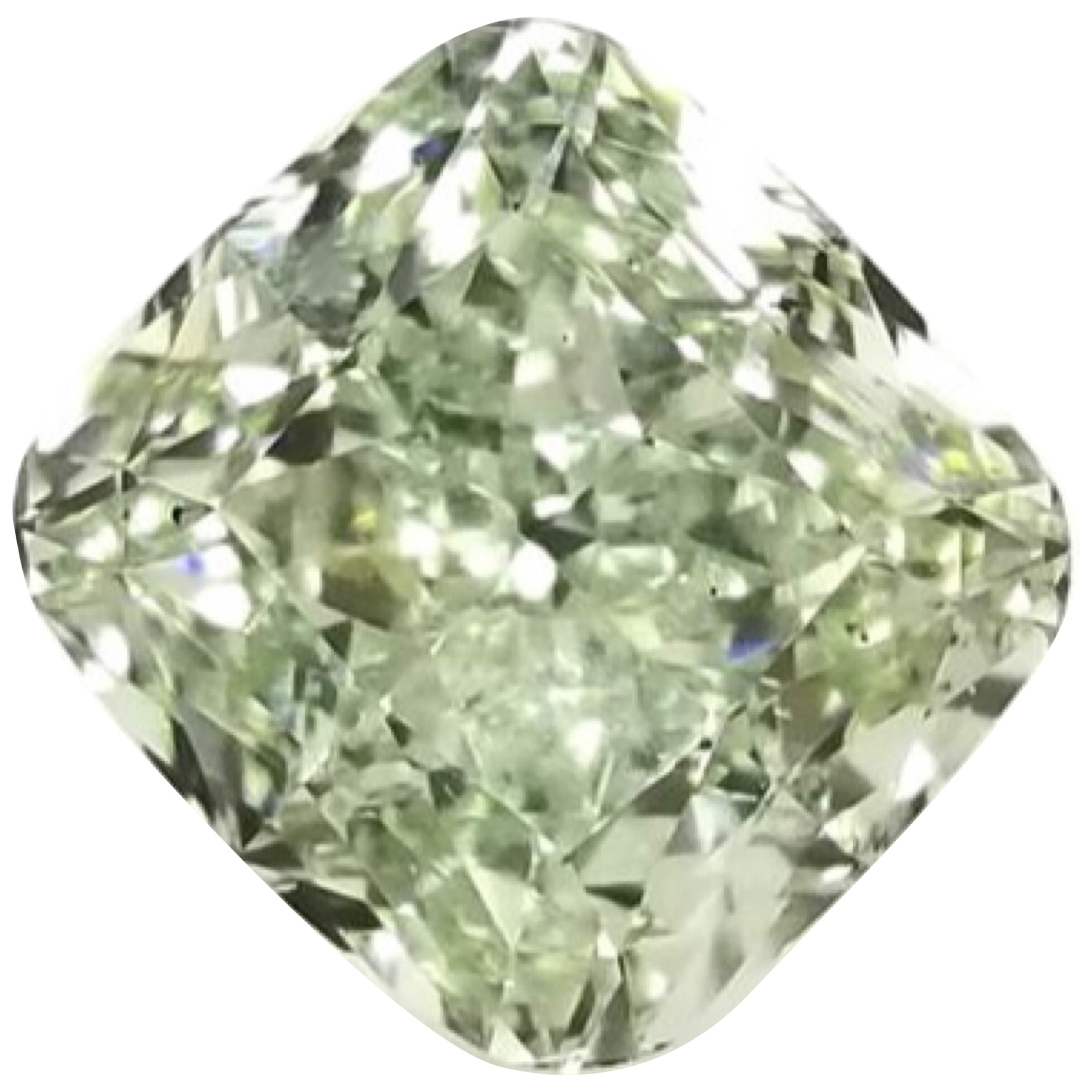 Emilio Jewelry GIA Certified 5.00 Carat Fancy Yellowish Green Diamond