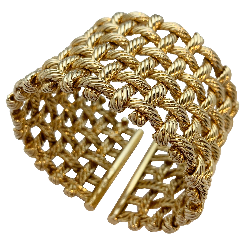 Hermes Gold Cuff Bracelet