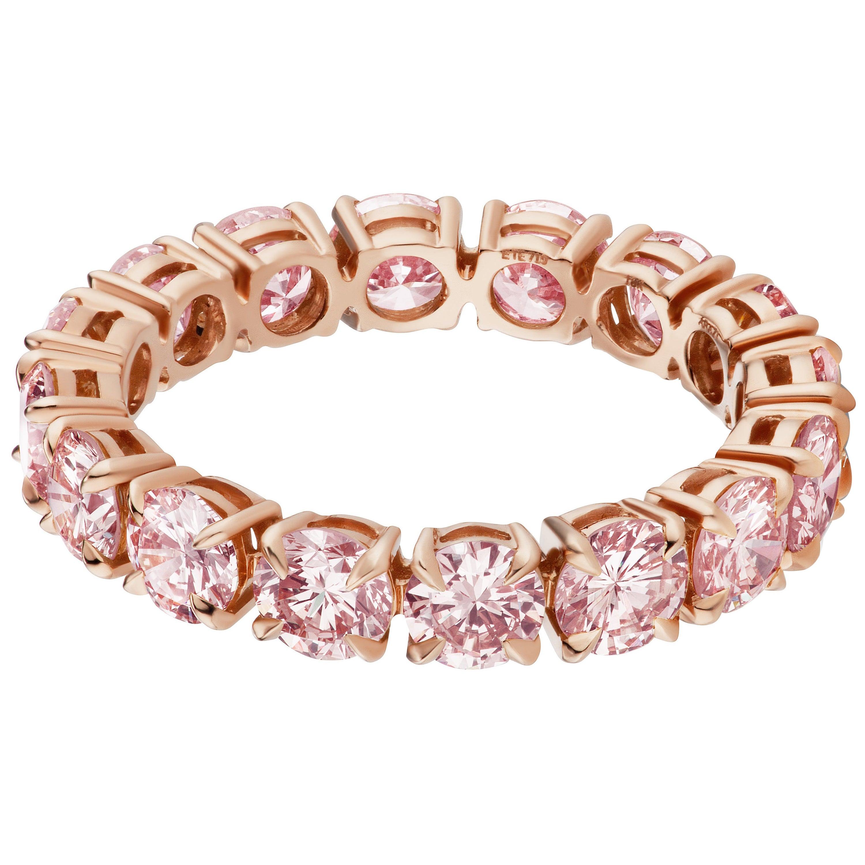 Pink Diamond Eternity Band Ring