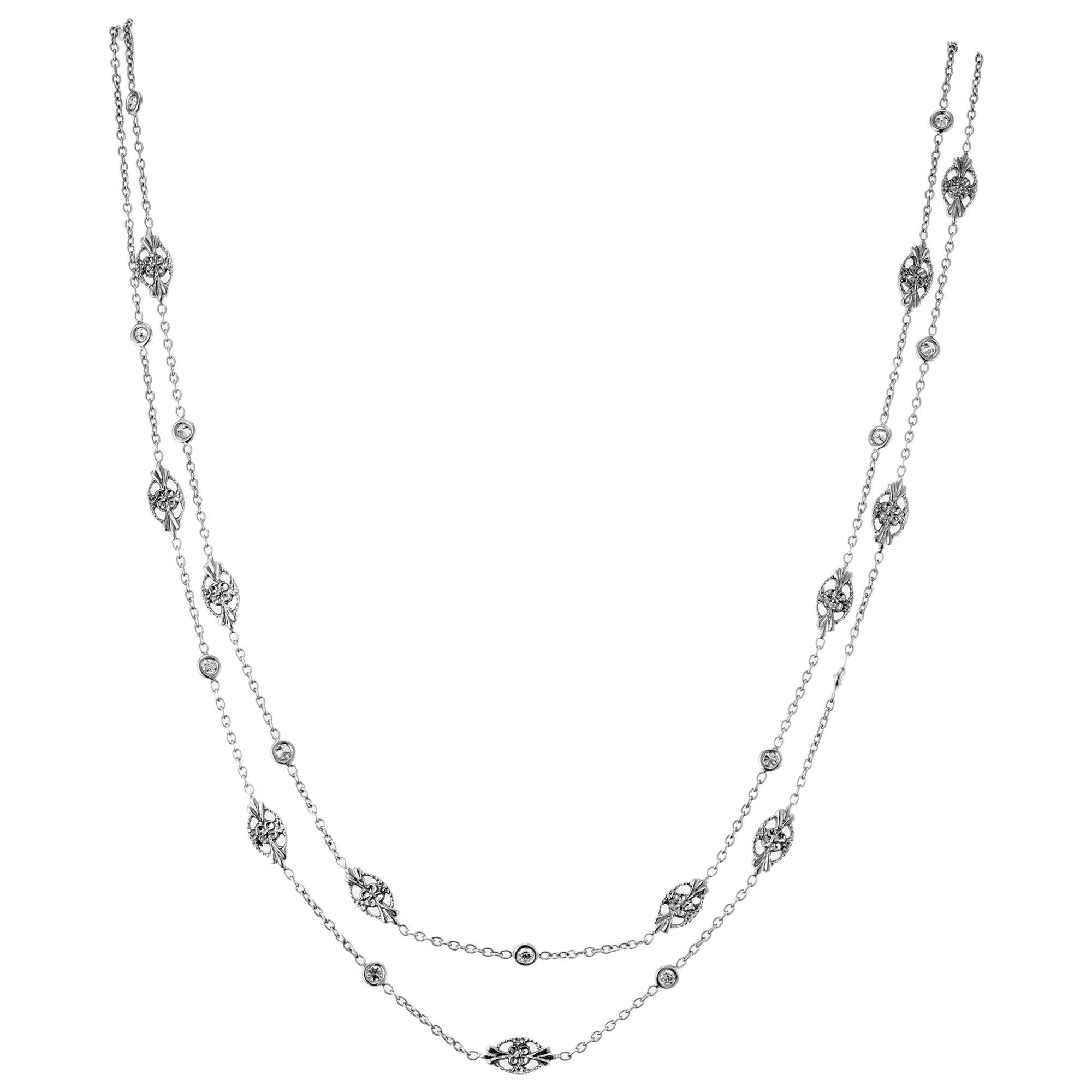 Penny Preville .60 Carat Diamond White Gold Eyeglass Necklace