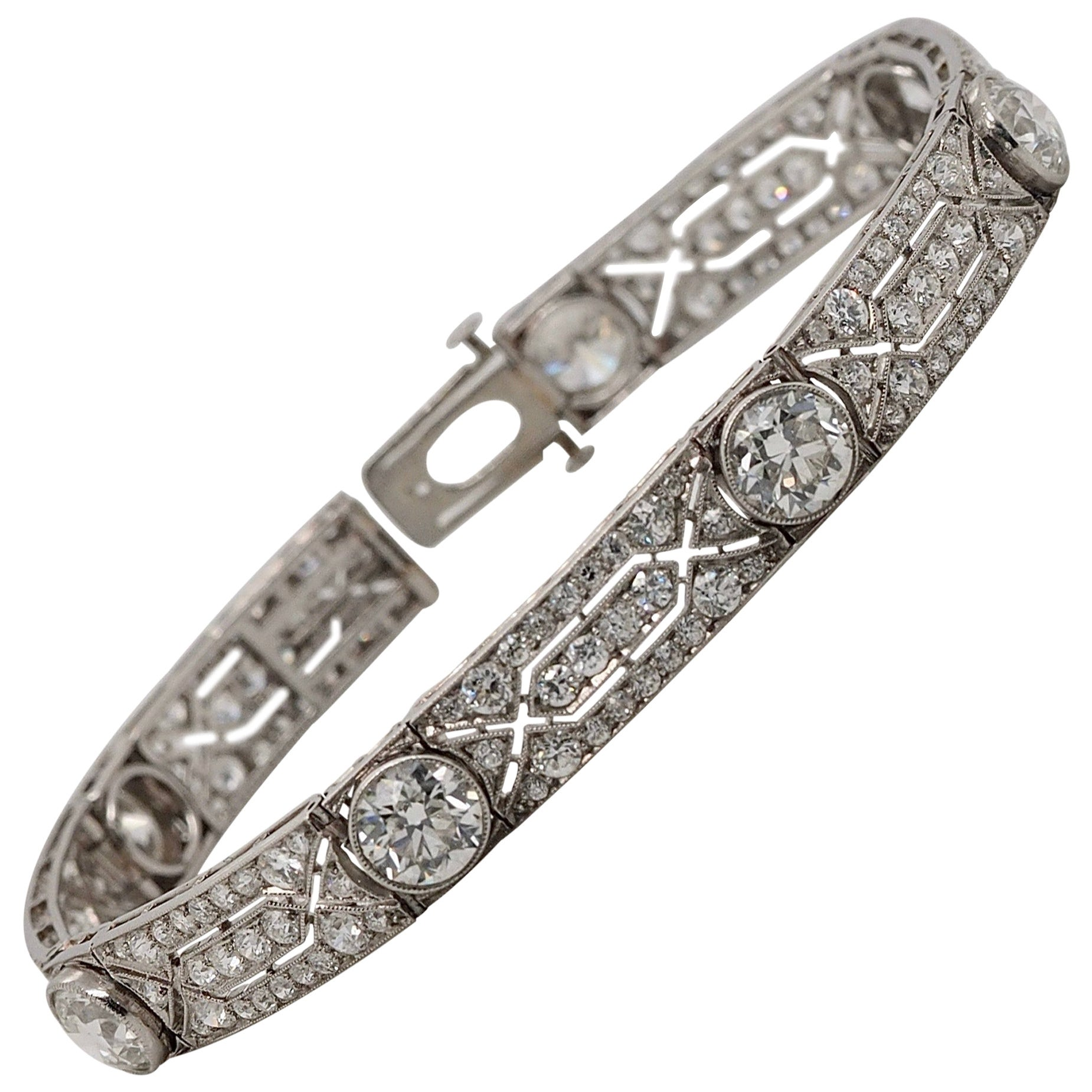 Vintage Tiffany & Co. Diamond Platinum Deco Bracelet, circa 1915