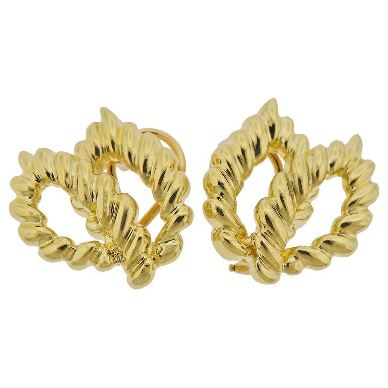 Tiffany & Co. 18 Karat Gold Earrings For Sale