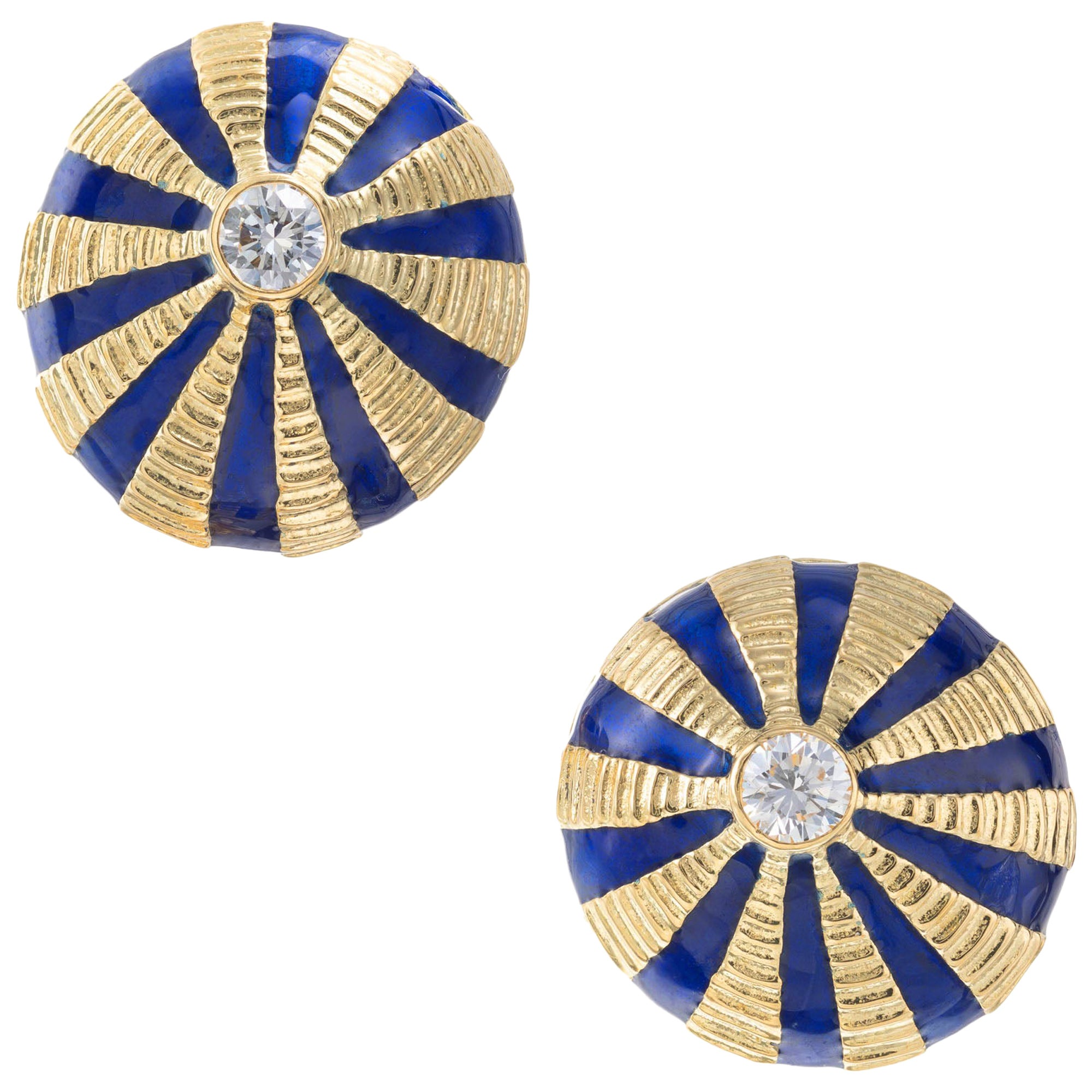 Tiffany & Co. Schlumberger Diamond Yellow Gold Taj Mahal Earrings