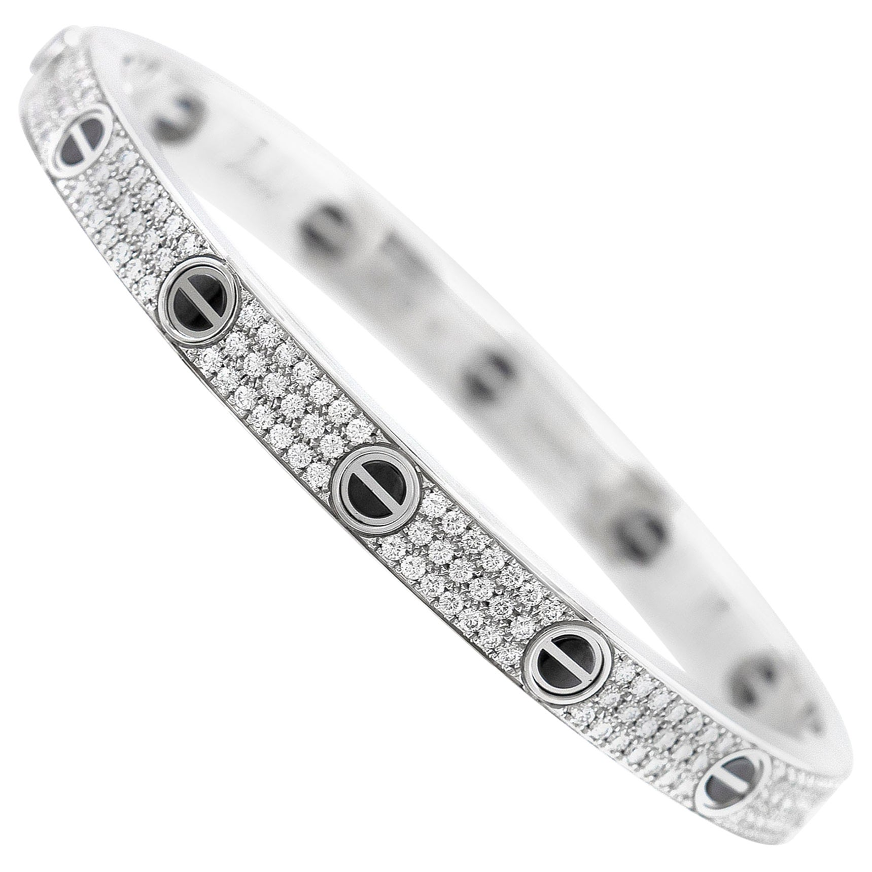 Cartier Diamond Love Bracelet 18k White Gold