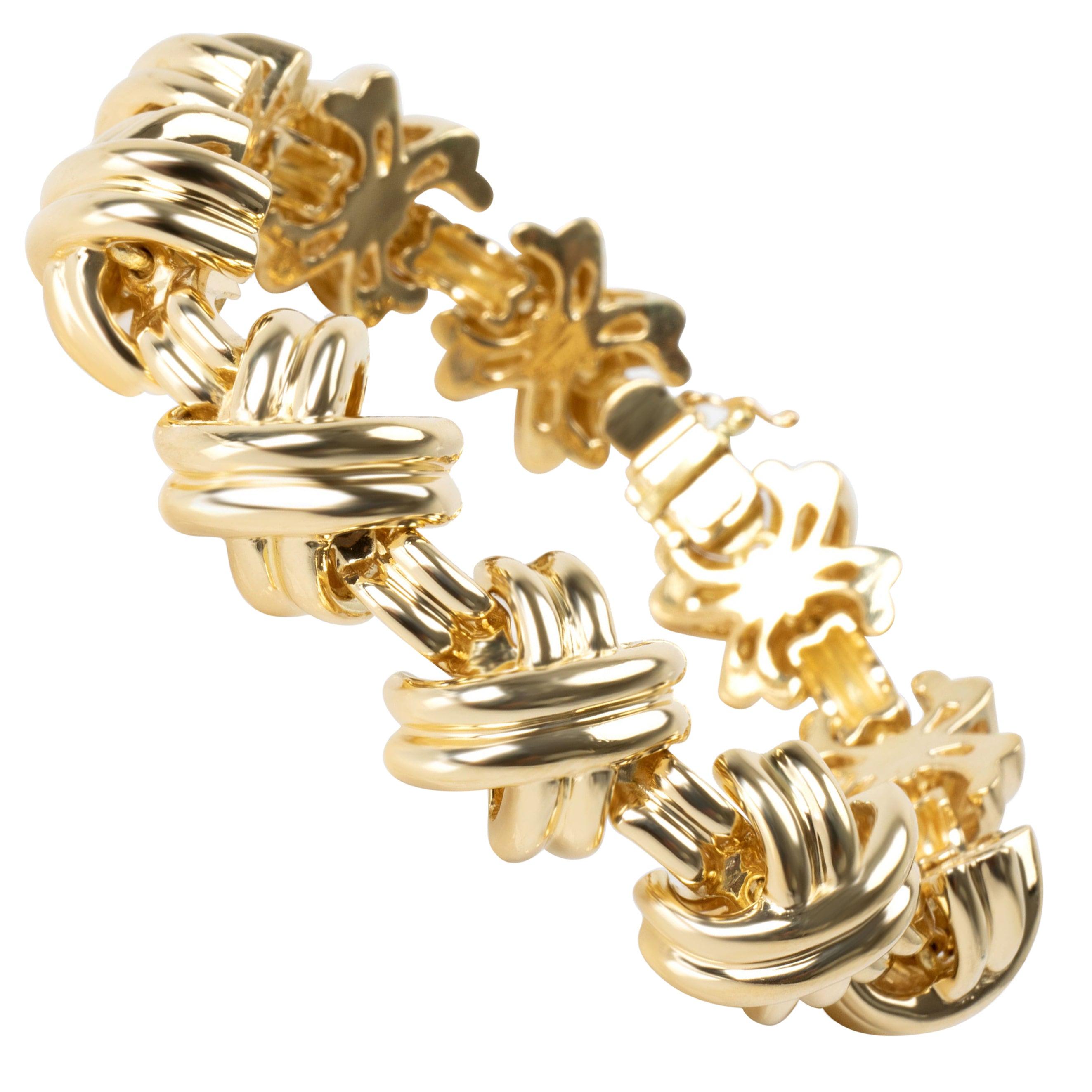 Vintage Tiffany & Co. X Bracelet in 18 Karat Yellow Gold