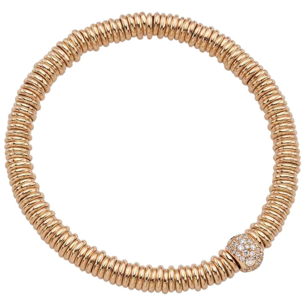 18 Karat Rose Gold BabyBang Bracelet 0.36 Carat White Brilliant Cut Diamonds