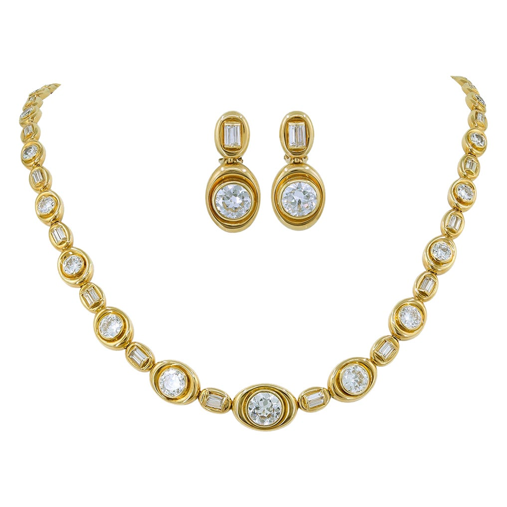 Van Cleef & Arpels Diamond Convertible Necklace Suite