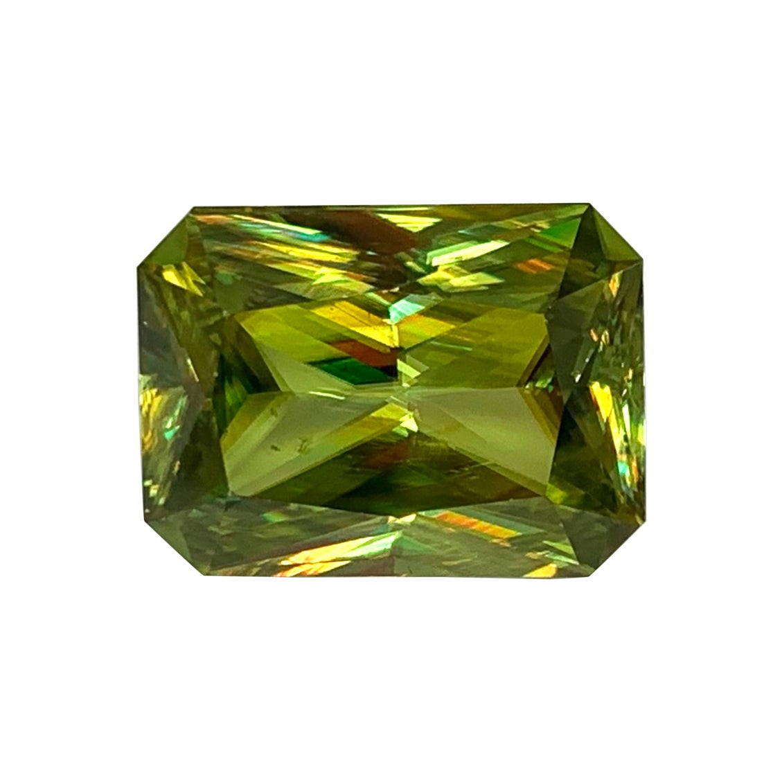 14.43 Carat Sphene Octagonal Cut, Unset Rare Loose Pendant Collector Gemstone