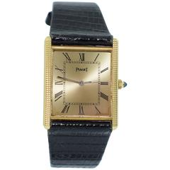 Piaget yellow gold Rectangular manual wind Dress Wristwatch