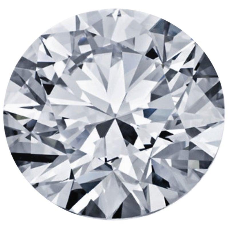 Round Brilliant Diamond, 2.43 Carat GIA Certified, Loose, I Color, VS1 Clarity