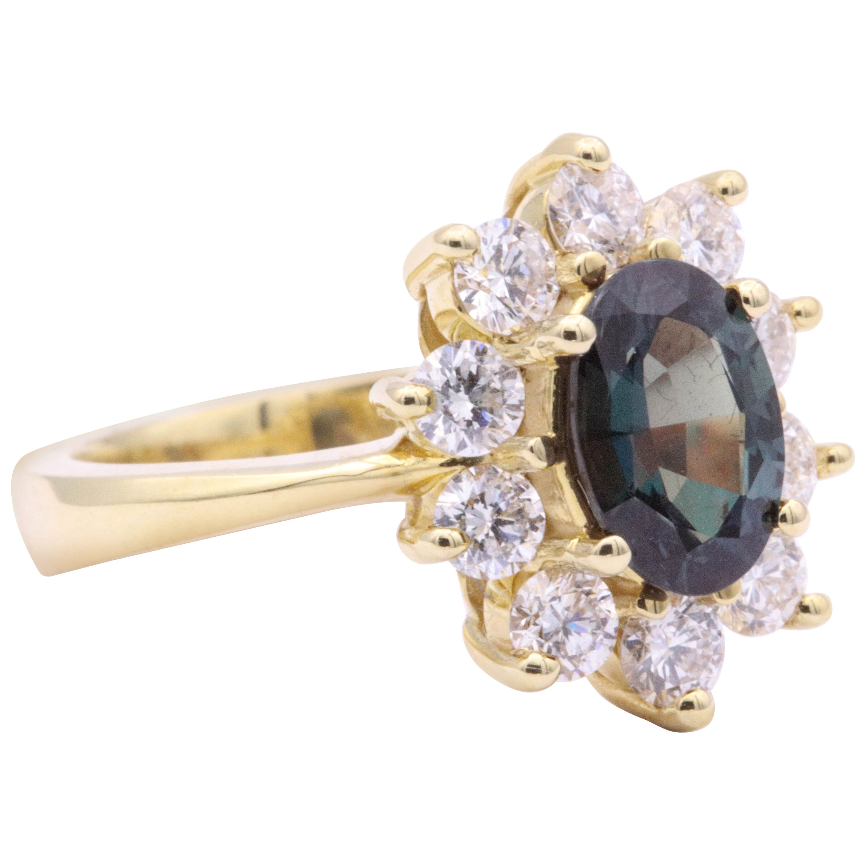 HARBOR D. Alexandrite Lady Diana Ring with GUB Certificate 2.26 Carat