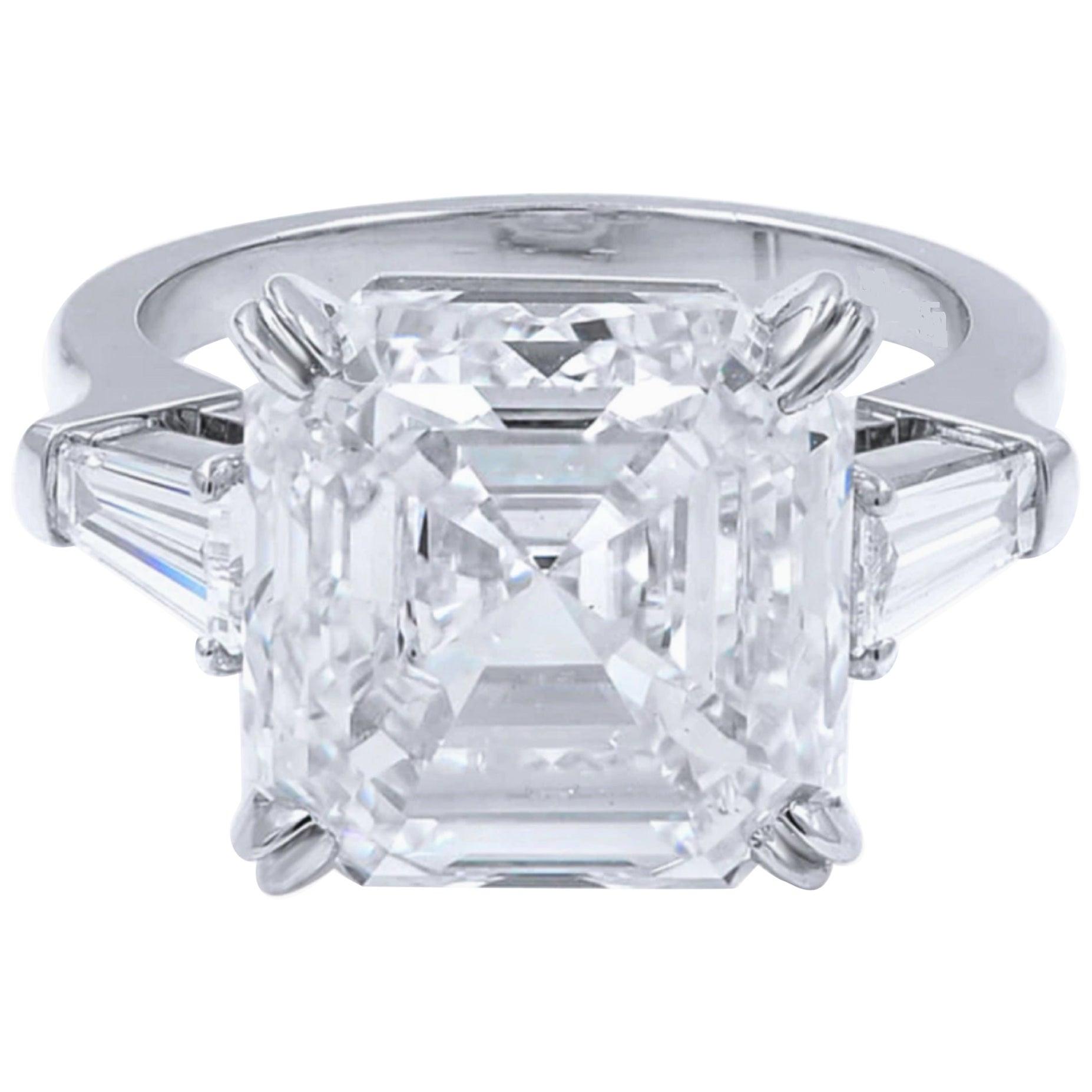GIA Certified 3.50 Carat Asscher Cut Diamond E Color VS2Clarity Excellent Cut