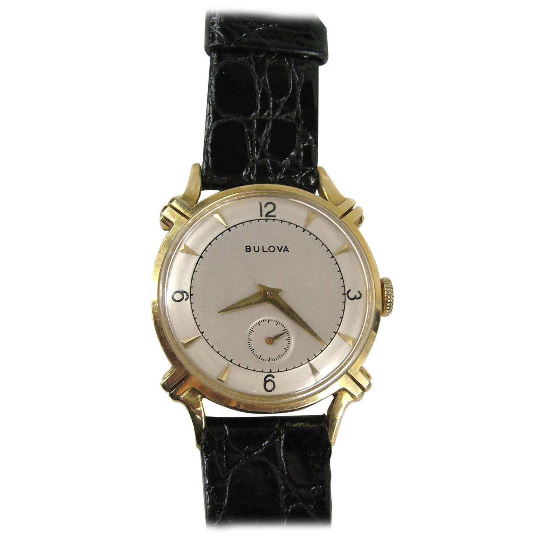 1950s bulova 14k gold wrist 21 jewels for sale at