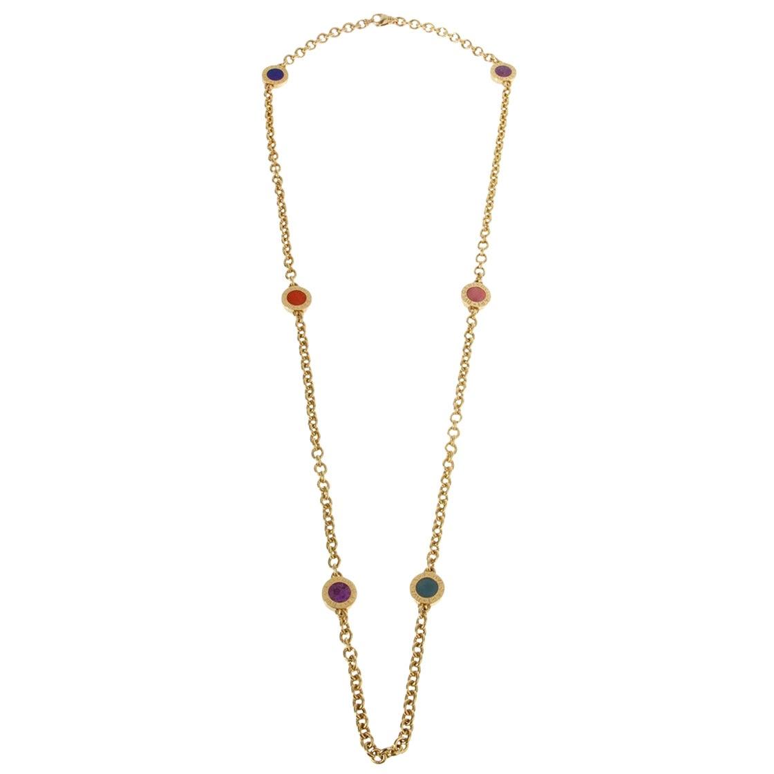 Bulgari Bulgari Vintage Yellow Gold Sautoir Necklace