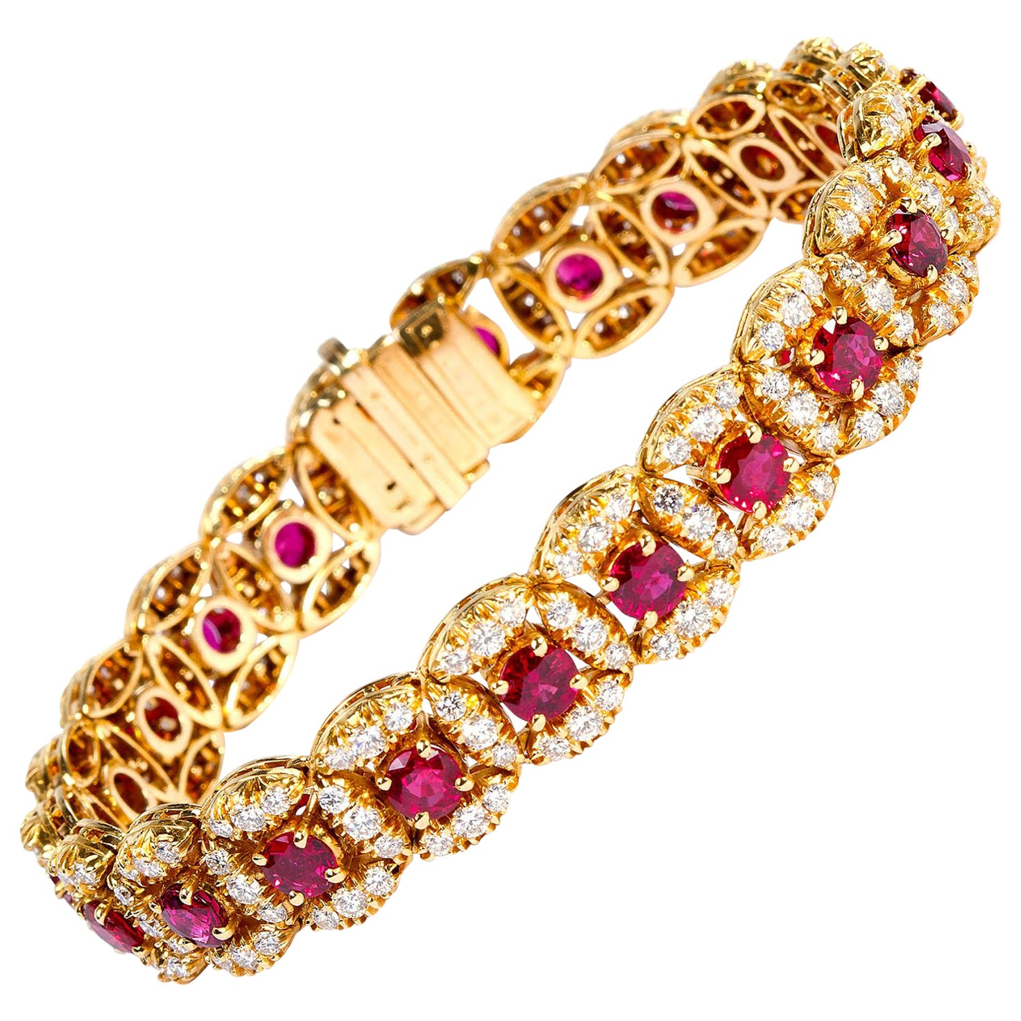 Original Oscar Heyman Ruby and Diamond Bracelet