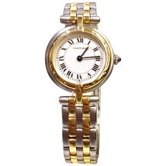 Cartier Yellow Gold Stainless Steel Ronde Collection Quartz Wristwatch