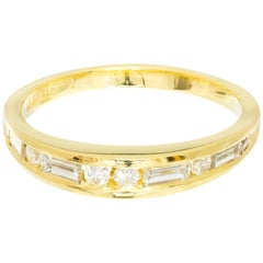 .26 Carat Diamond Yellow Gold Channel Set Domed Band Ring