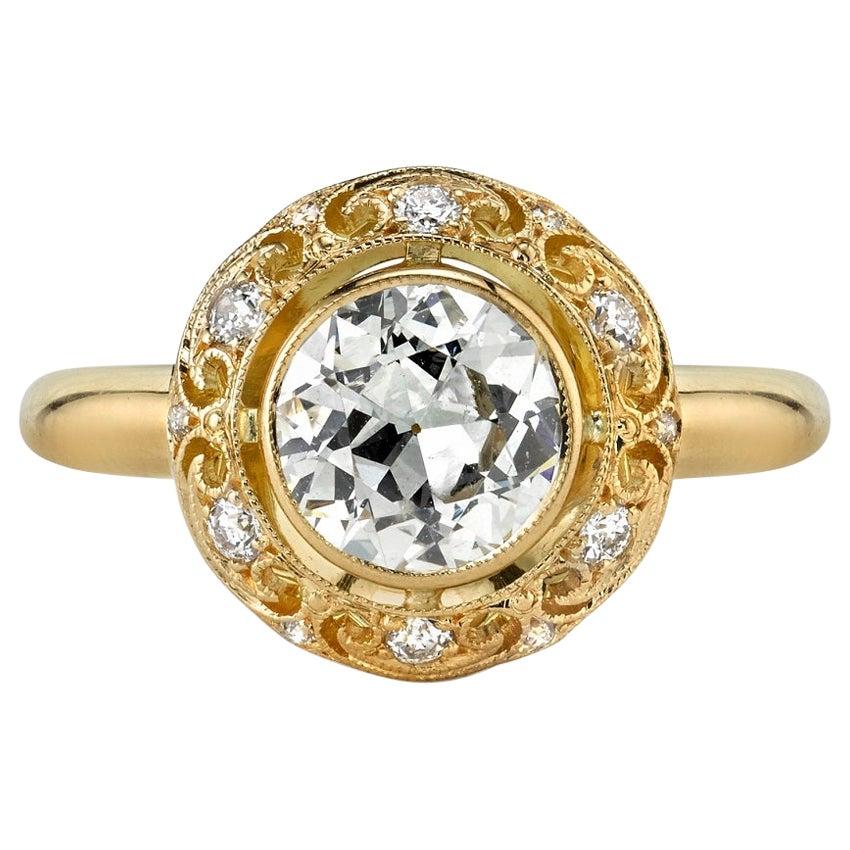 1.06 Carat Old European Cut Diamond Set in an 18 Karat Yellow Gold Ring