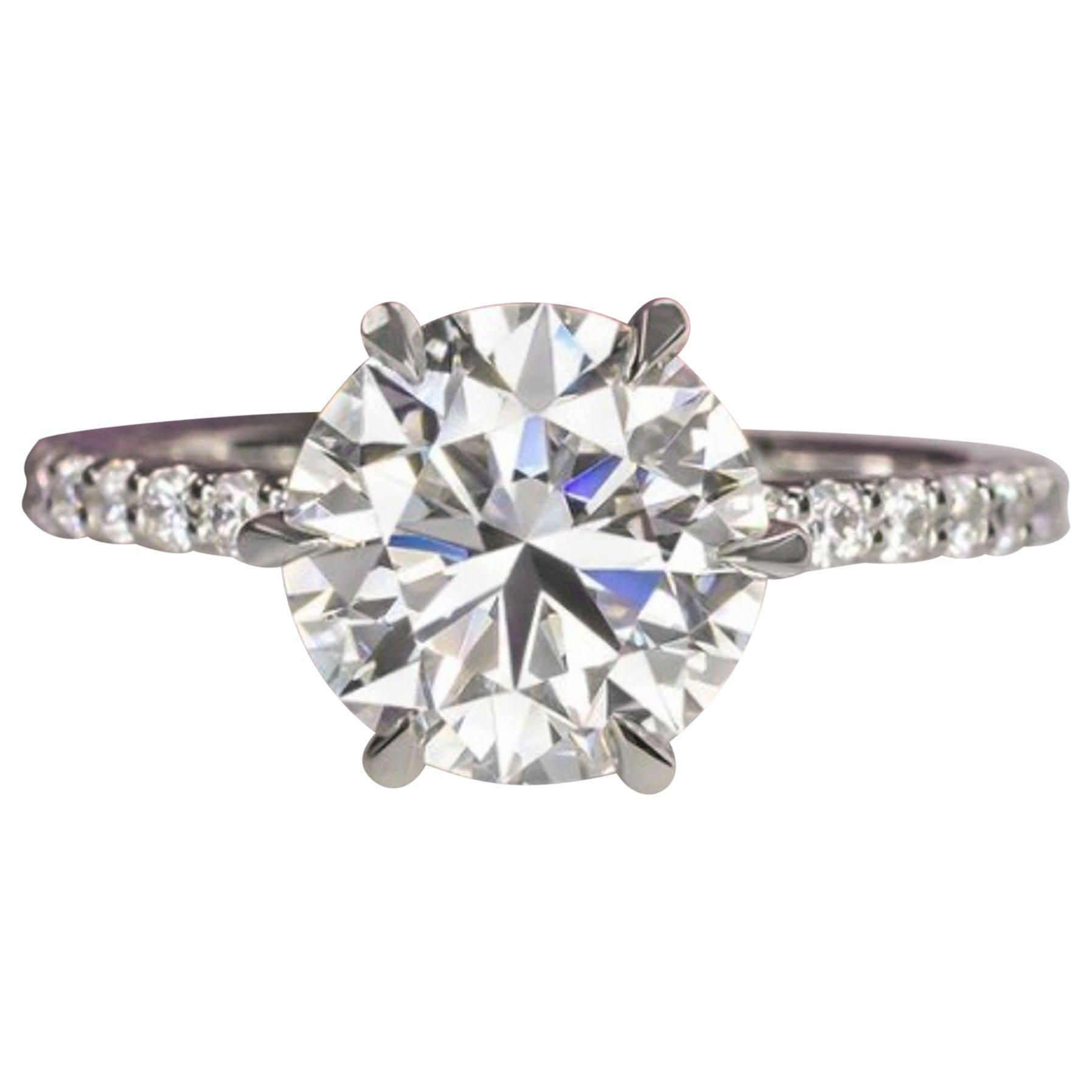 GIA 2.40 Carat Round Brilliant Cut Diamond