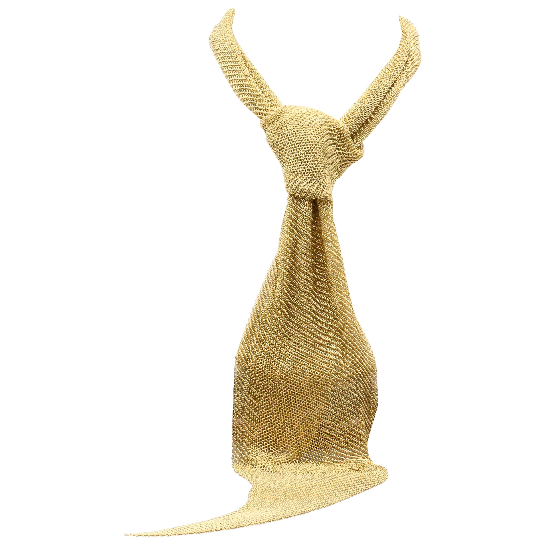 Tiffany & Co. Peretti 18 Karat Yellow Gold Mesh Scarf Necklace