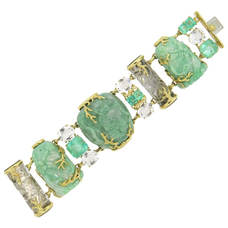 Seaman Schepps jadeite bracelet, 21st century, offered by OakGem