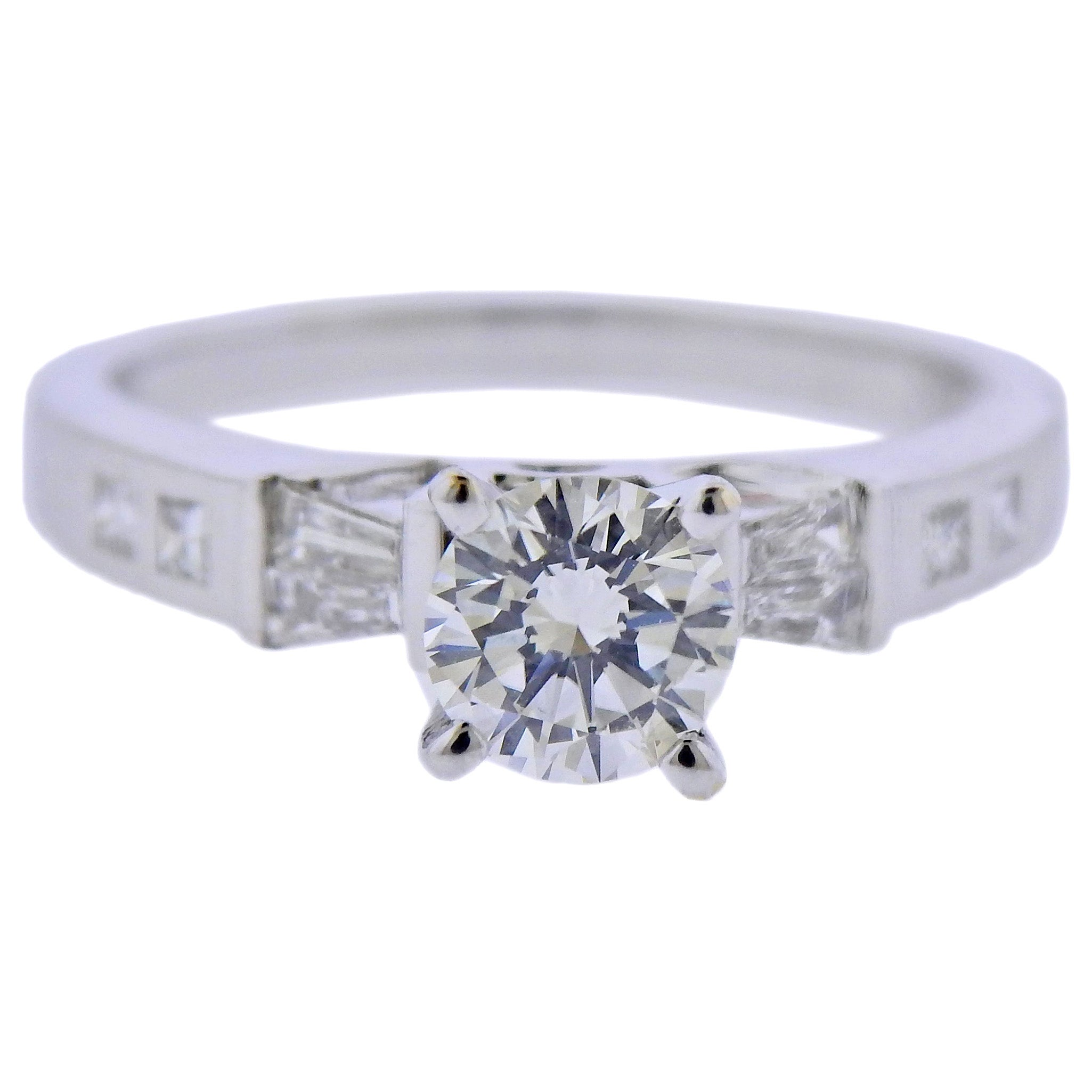 0.65 Carat Diamond Gold Engagement Ring