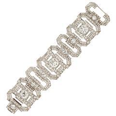Stunning Diamond Art Deco Bracelet