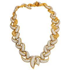Beautiful Diamond Gold Platinum Necklace