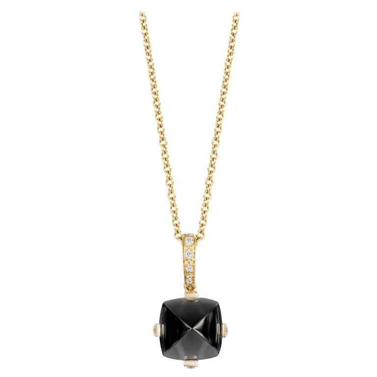 Goshwara Onyx and Diamond Pendant