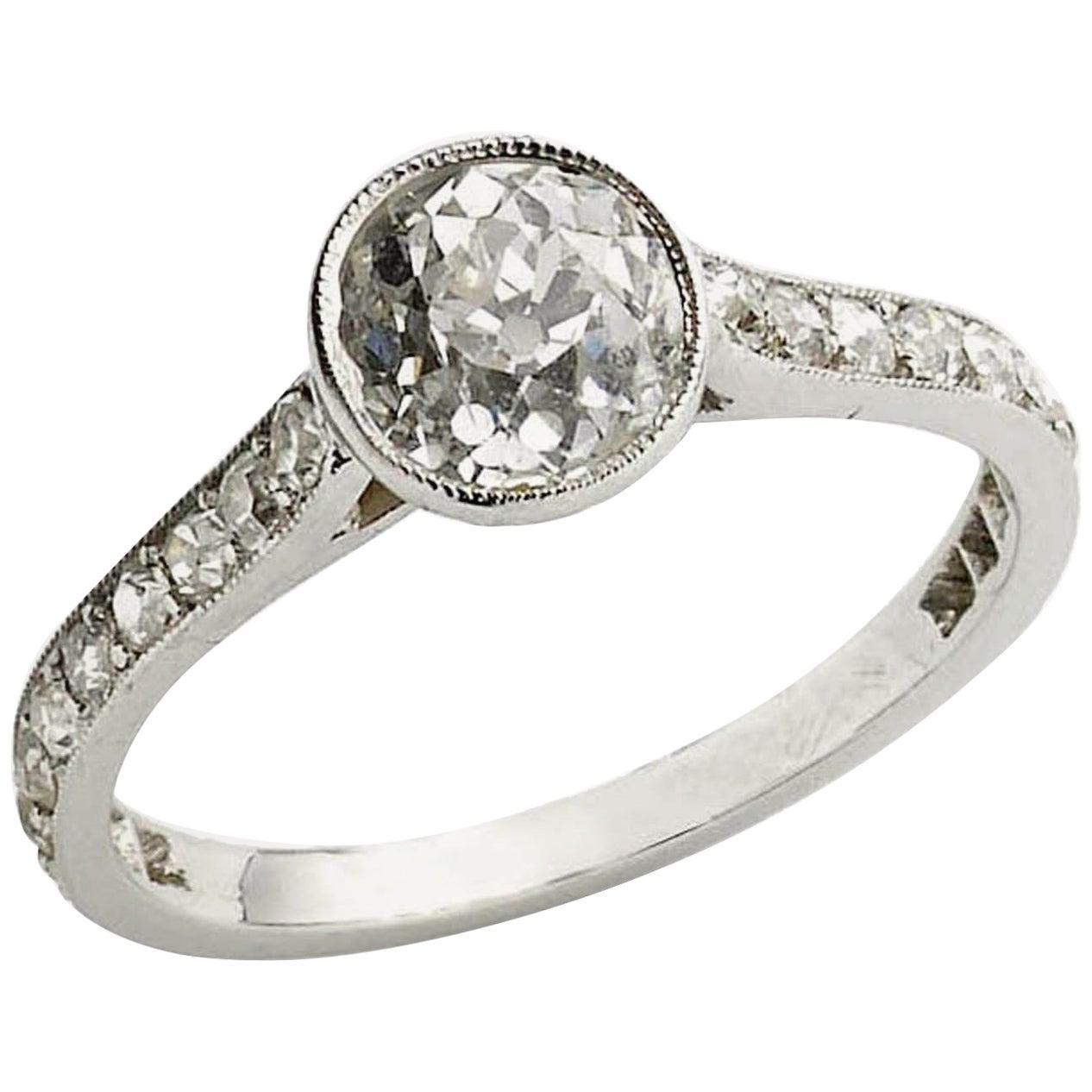 Cushion Cut Diamond Ring, 1.20 Carat