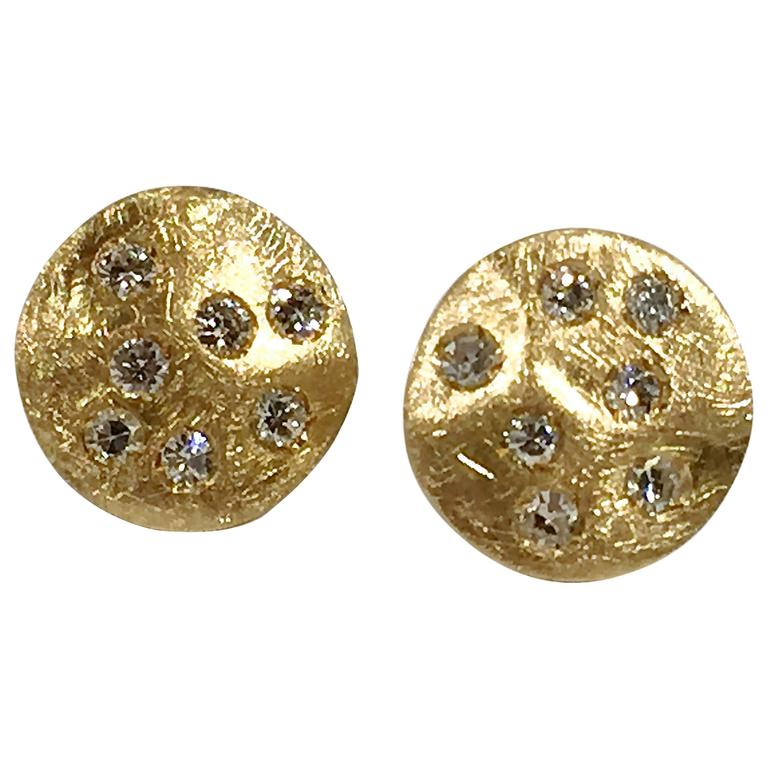 Jona Diamond Gold Stud Earrings