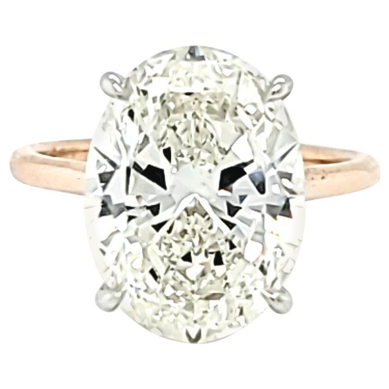 GIA Certified 6.01 Carat Oval Cut Diamond Ring