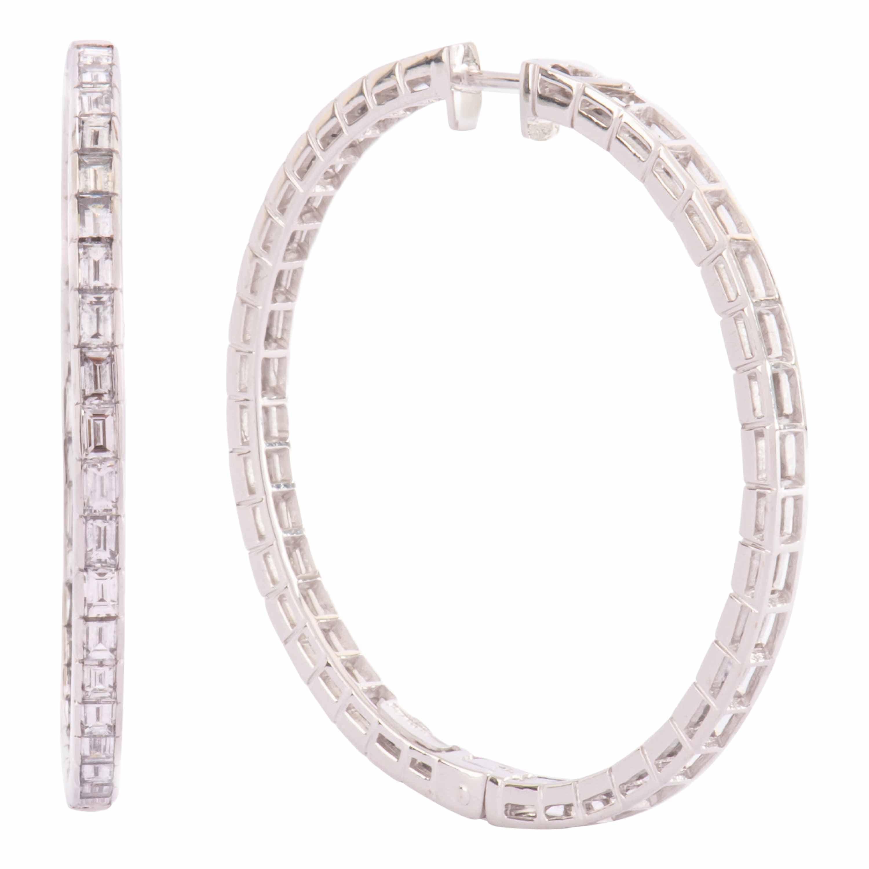 Sabbadini Earrings in White Gold and Diamonds