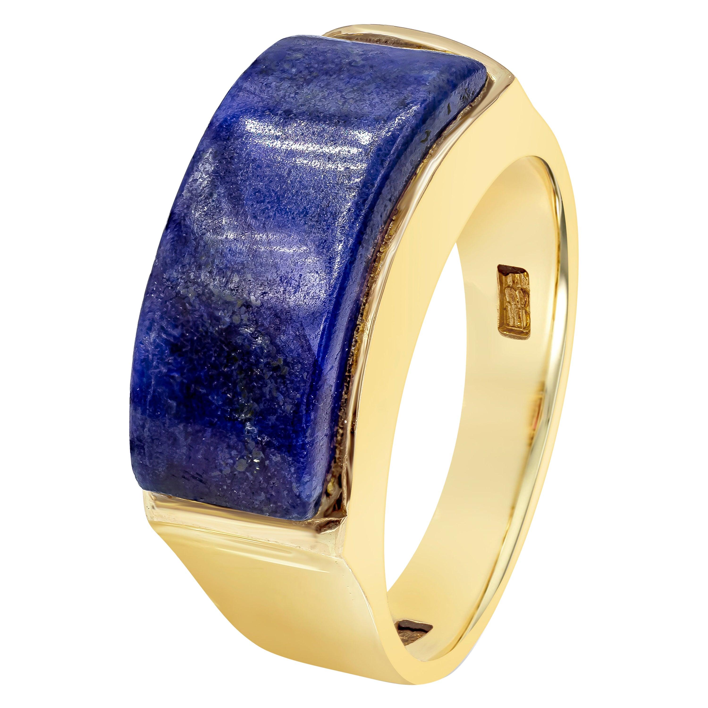 Lapis Lazuli Curved Bar Ring