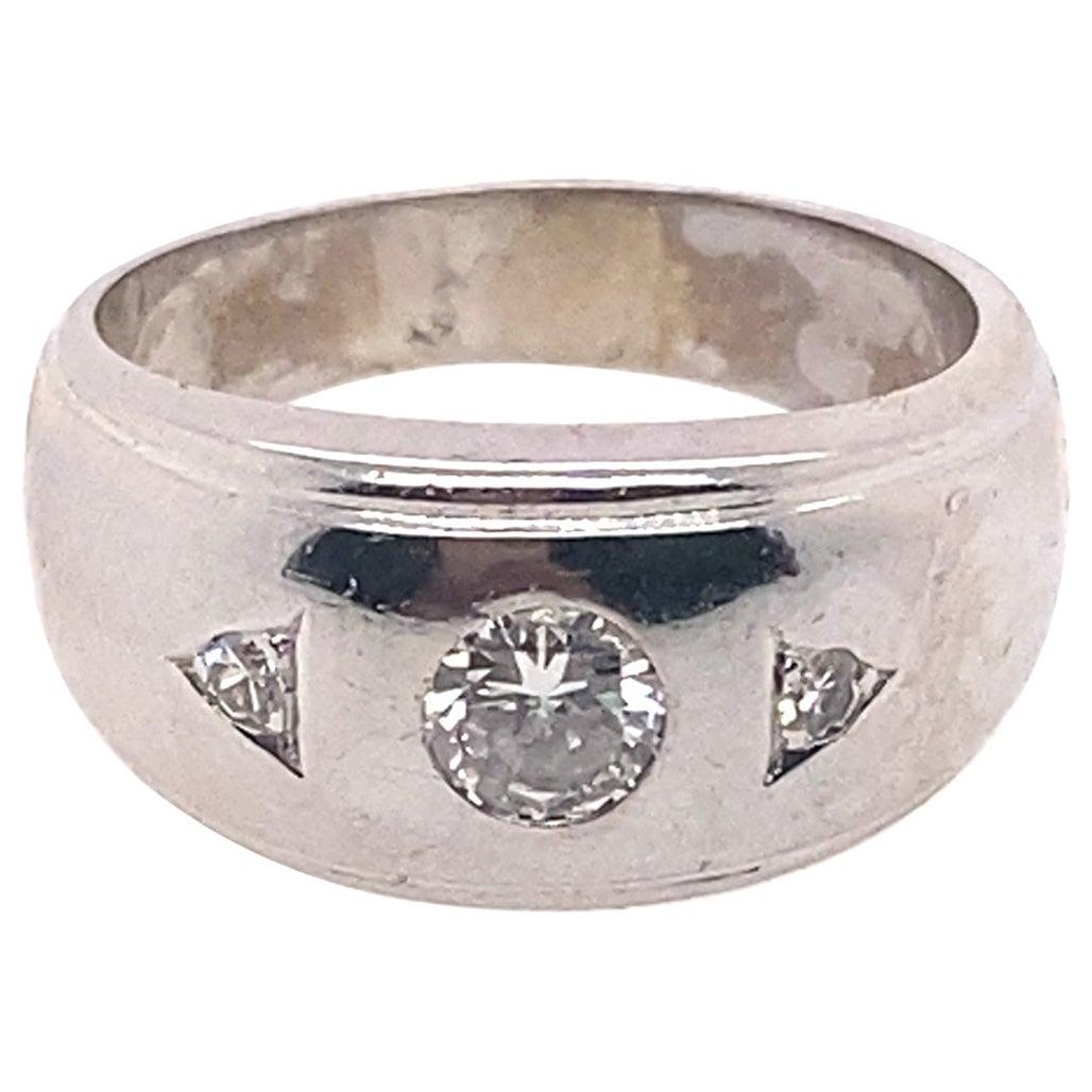 Ethonica Diamond Dome Ring in 14 Karat Gold