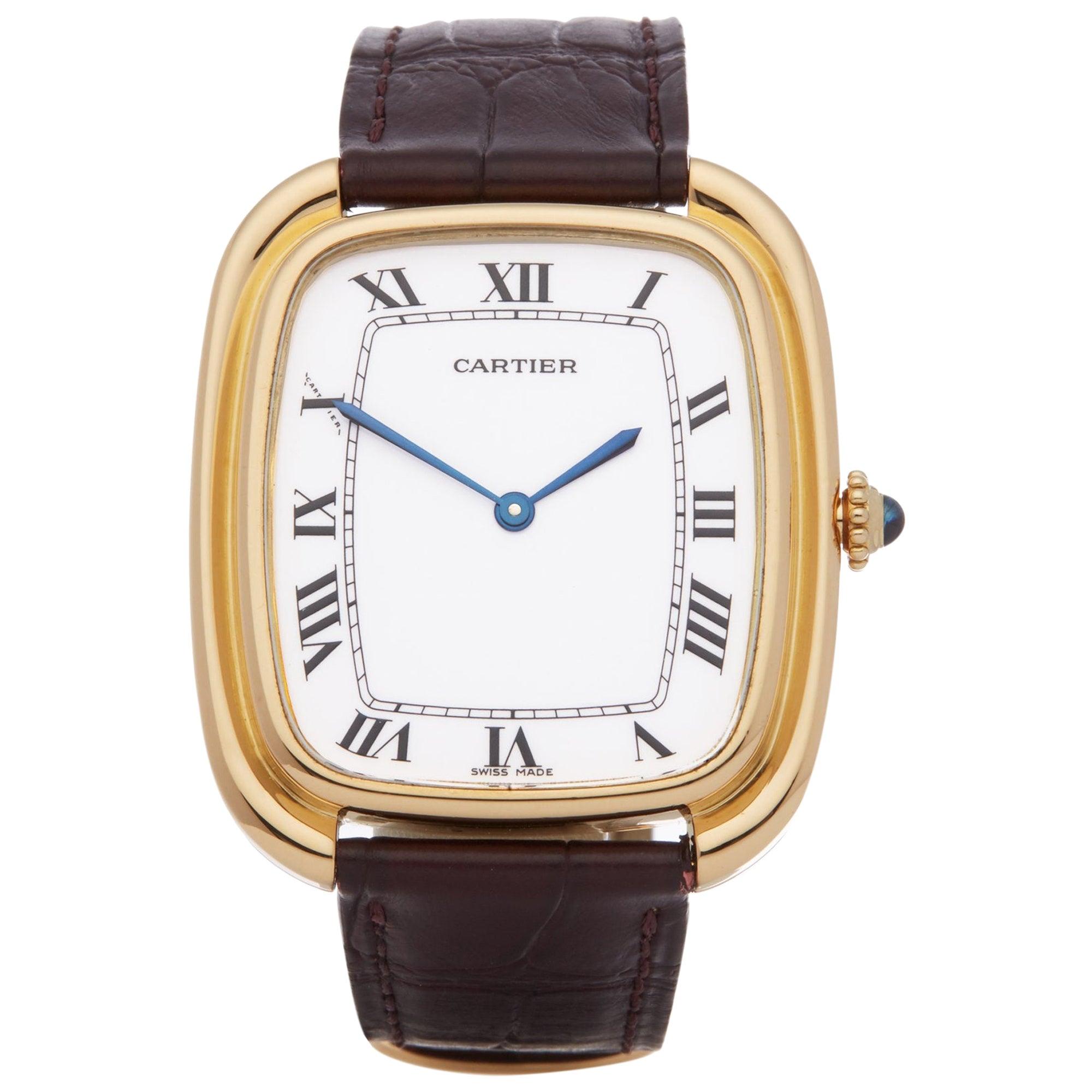 Cartier Gondole Jumbo Paris 81720400 Men's Yellow Gold Watch