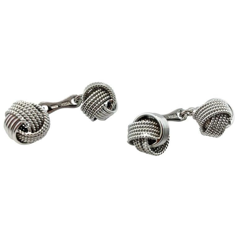 Jona Silver Knot Cufflinks