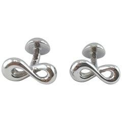 Jona Sterling Silver Infinity Cufflinks