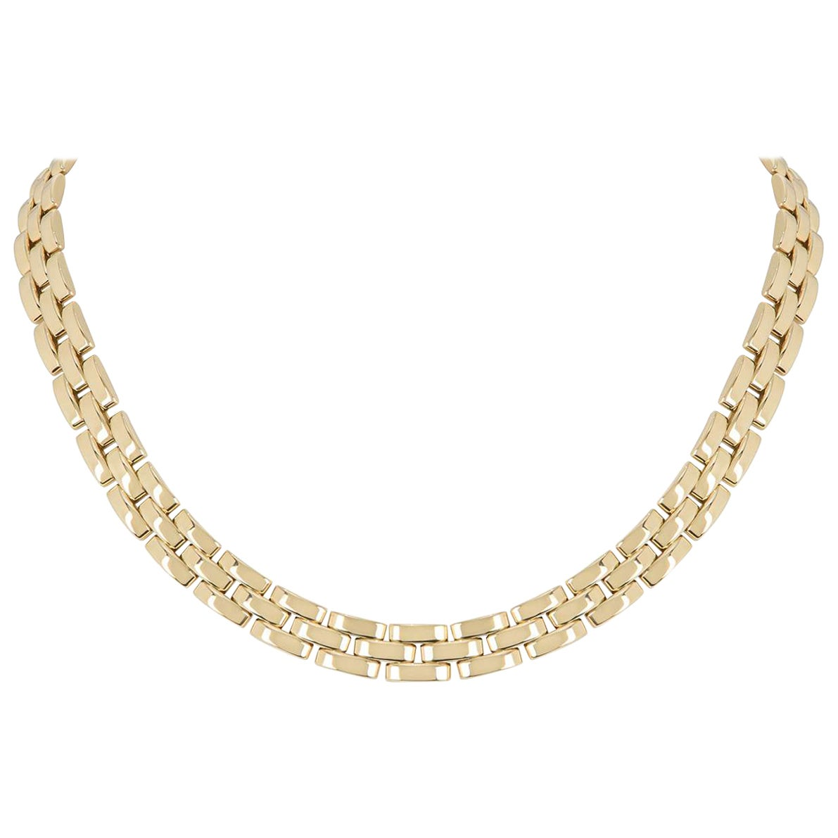Cartier Yellow Gold Maillon Panthere Necklace