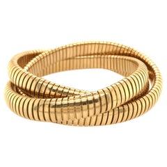 18 Karat Yellow Gold Tubogas Bracelet