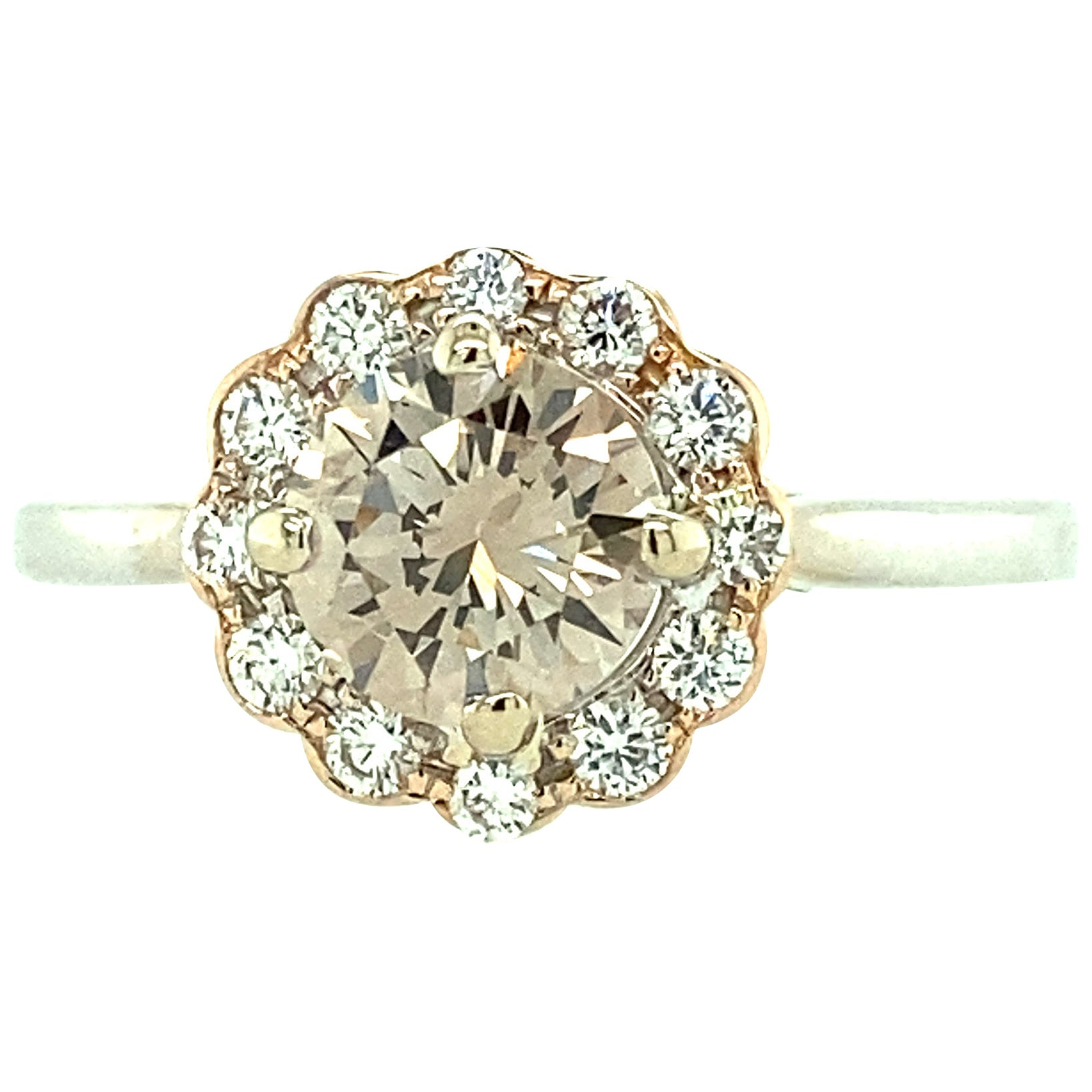 Pinkish Brown Diamond Engagement Ring
