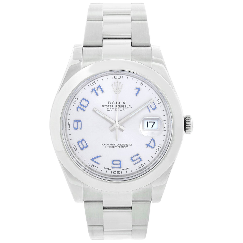 Rolex Stainless Steel Engraved Bezel Datejust II Wristwatch Ref 116300